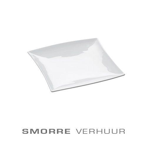 Bord huren vierkant wit