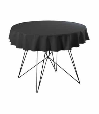 Tafelkleed zwart huren 220 cm rond